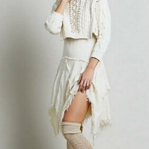 Free People Tattered Up Slip Fairy Dress Small
